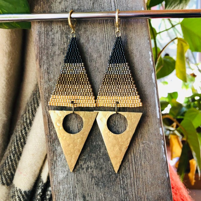 Double Triangle Glam Earrings